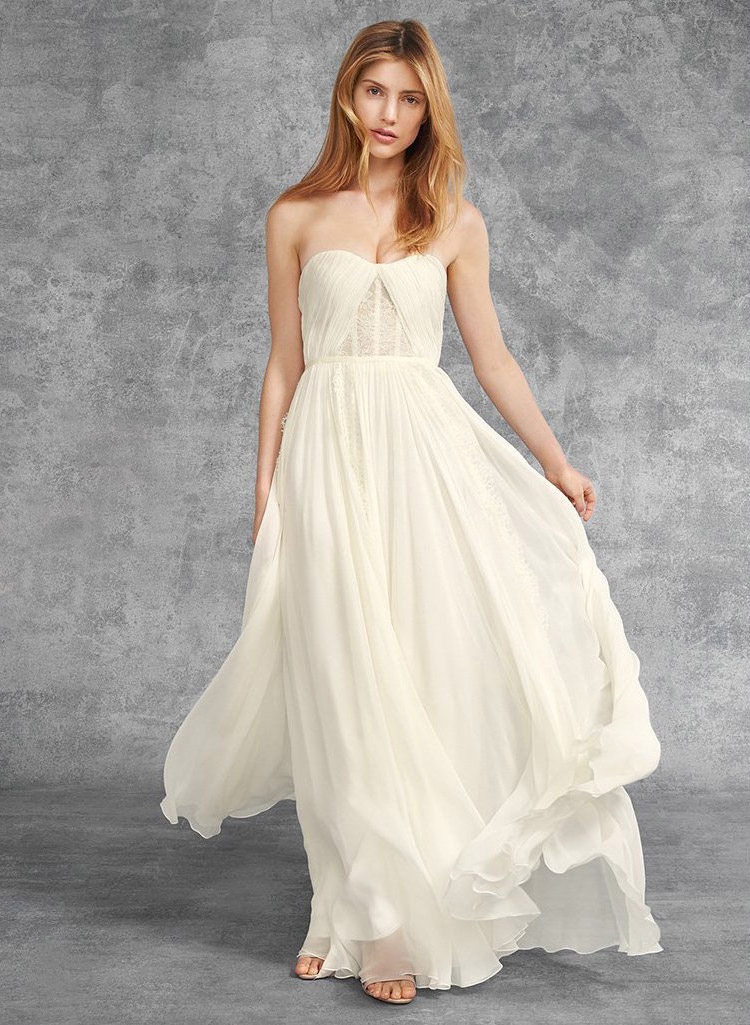Reem Acra I'm In Love Strapless Gown