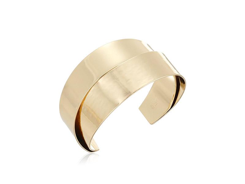 Robert Lee Morris Neutral Territory Hammered Texture Overlap Cuff Bracelet