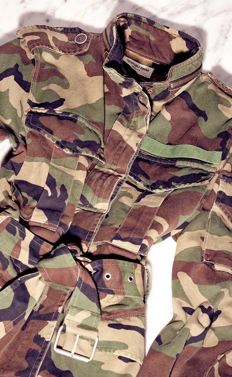 Saint Laurent Printed Cotton Jacket
