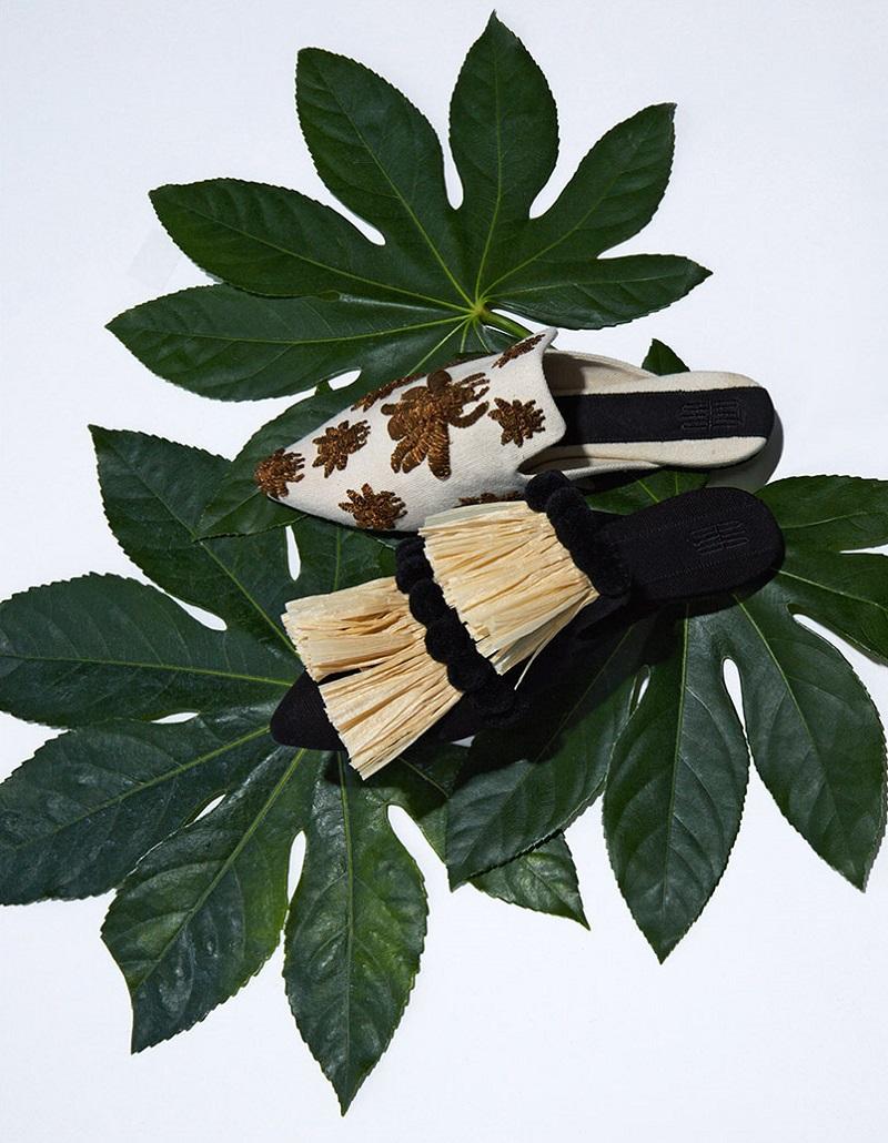Sanayi 313 Rango bee-emroidered slipper shoes