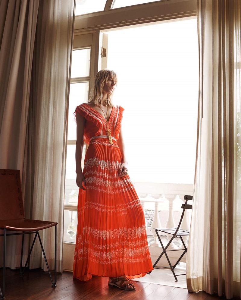 Self-Portrait Printed Maxi Dress