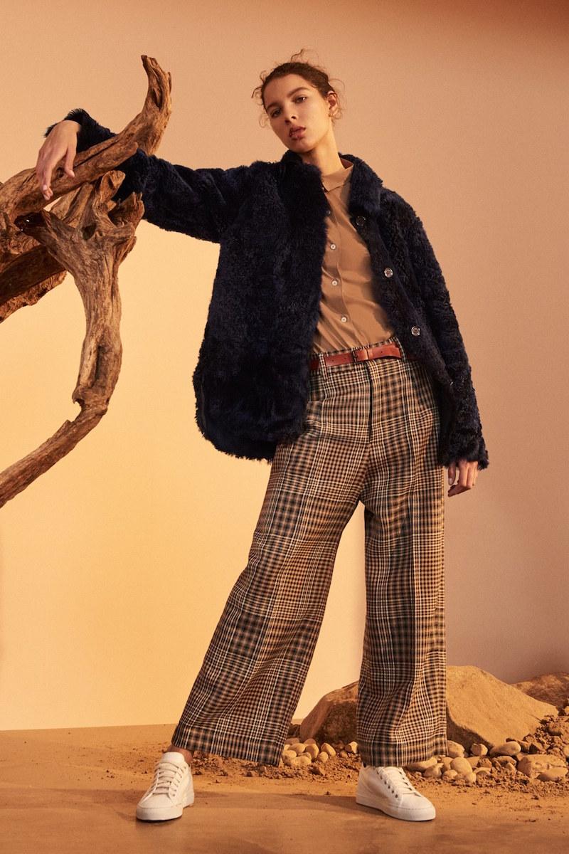 Sofie D'Hoore Cortes Reversible Genuine Shearling Jacket