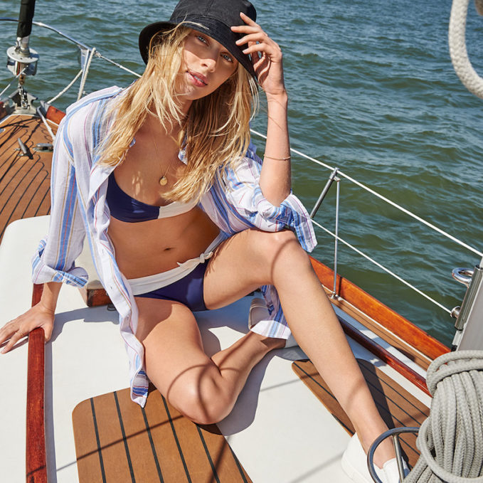Solid & Striped x Poppy Delevingne Wrap Bikini Top