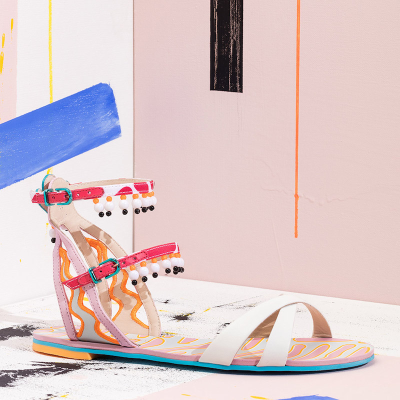 Sophia Webster Leather Nereida Nectarine Sandals