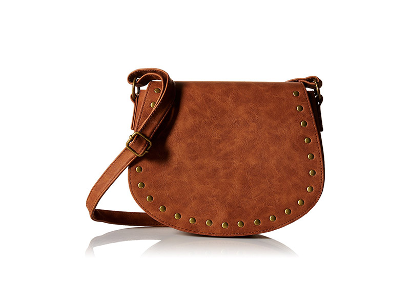 T-Shirt & Jeans Bag with Studs Saddle Cross Body