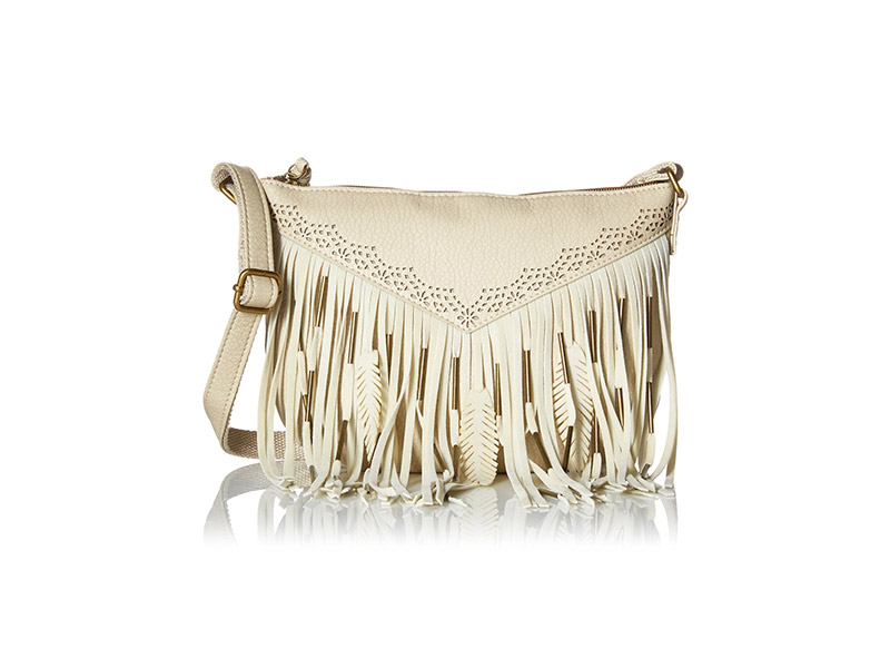 T-Shirt & Jeans Fringe Cross Body