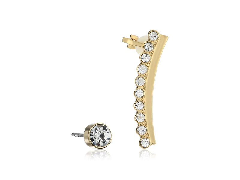 T Tahari Essentials Crystal Stud Crawler Ear Cuffs