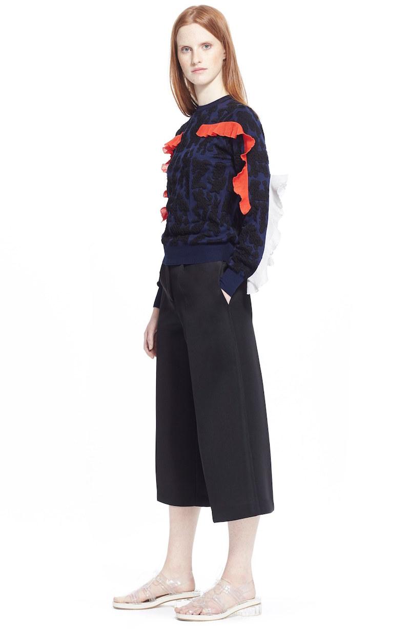 TOGA Ruffle Jacquard Sweater