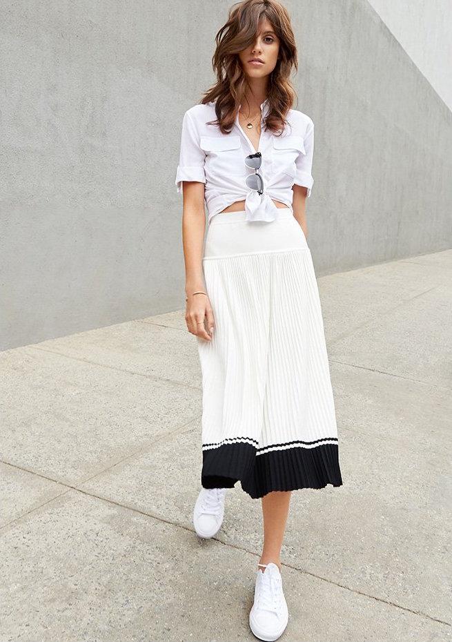 Tak. Ori Pleated Skirt