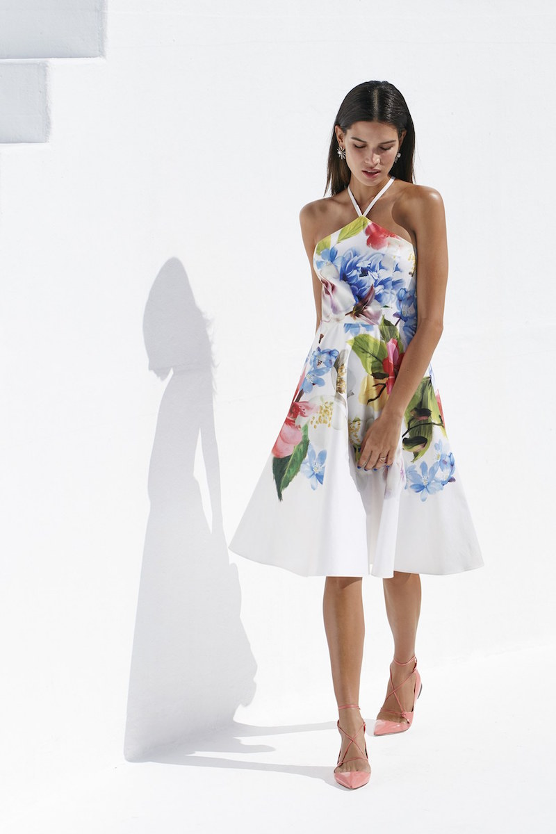 Ted Baker London Corpina Floral Print Fit & Flare Dress