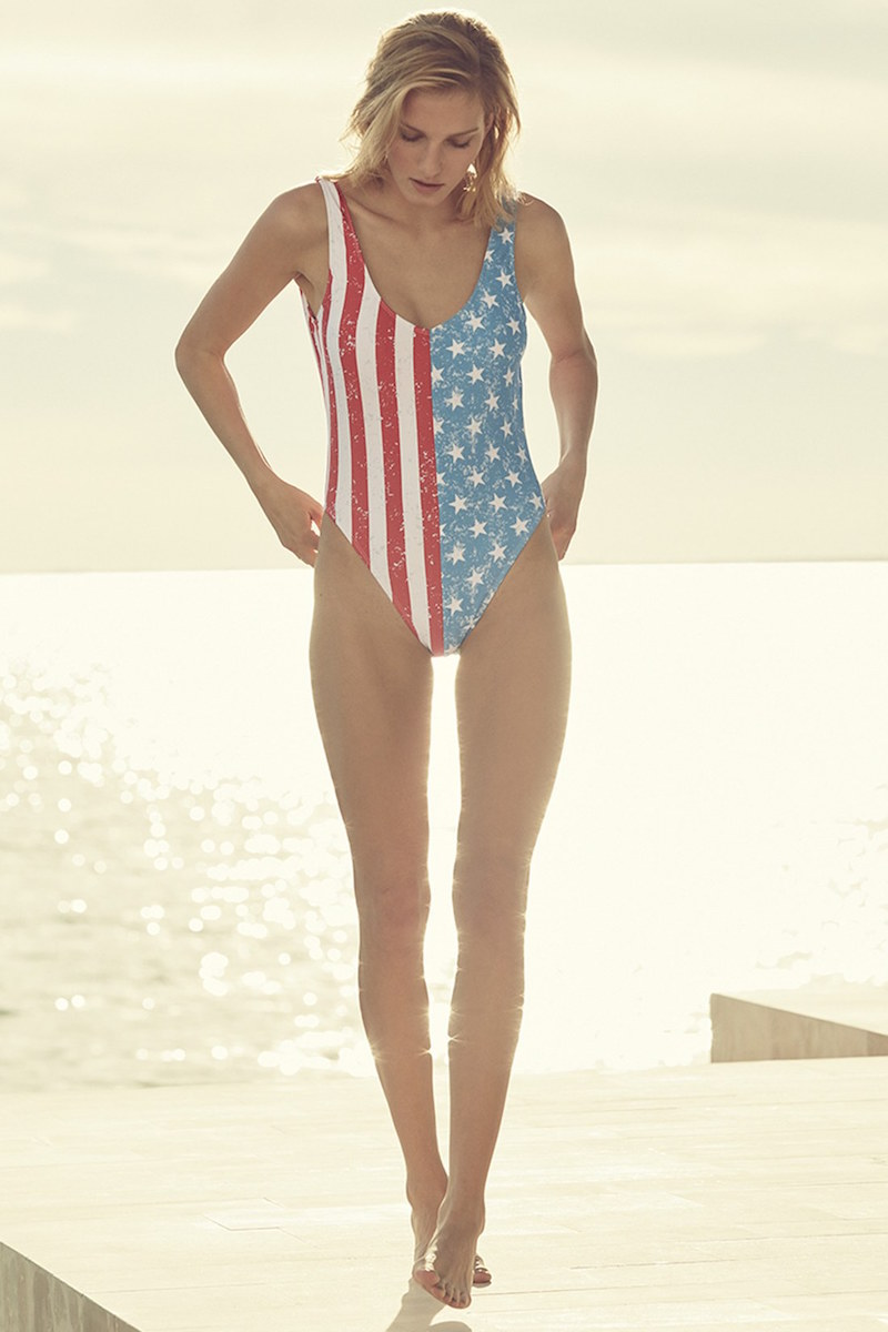 The Bikini Lab Stars & Stripes One-Piece Swimsuit