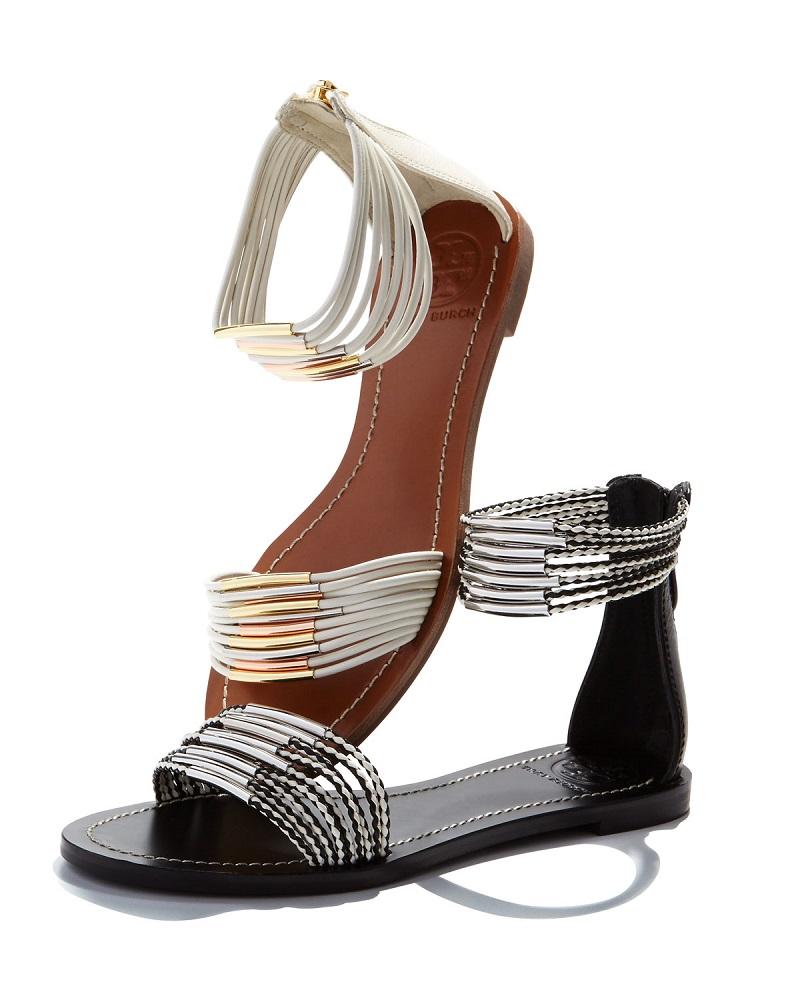 Tory Burch Mignon Braided Flat Sandal