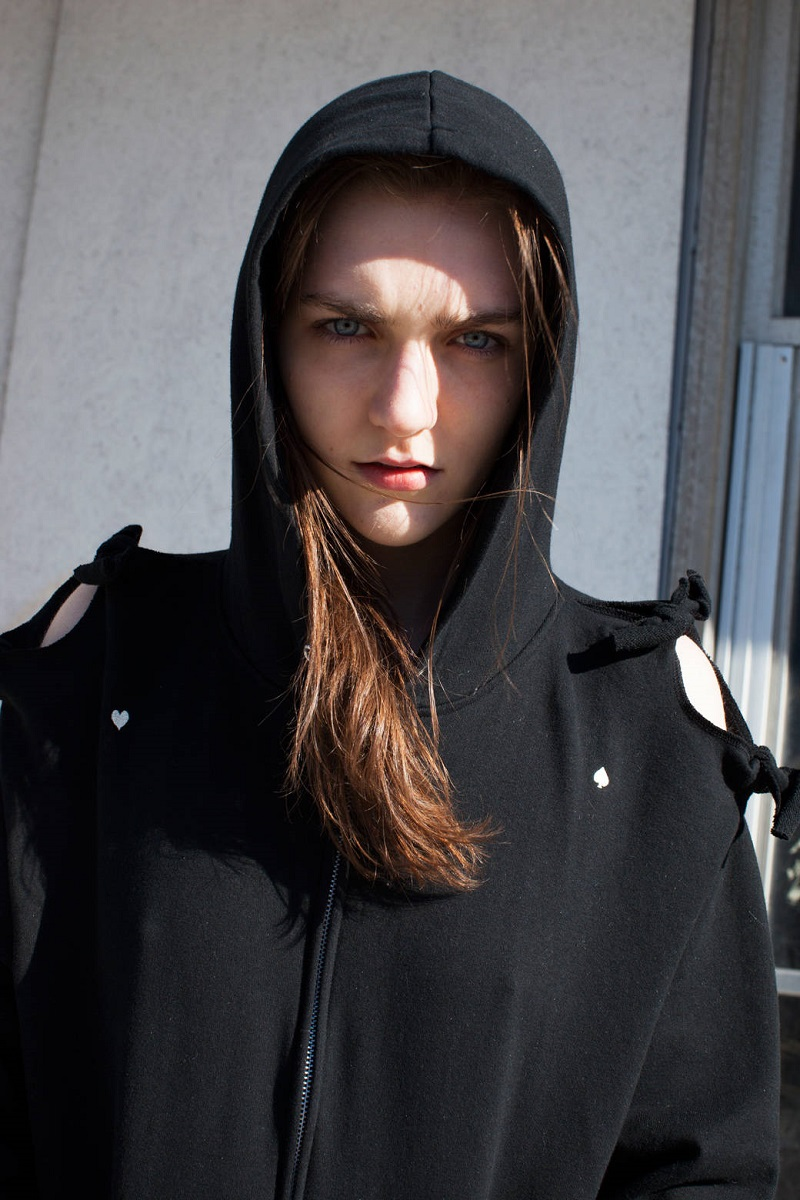 Undercover Black Bow Zip-Up Hoodie