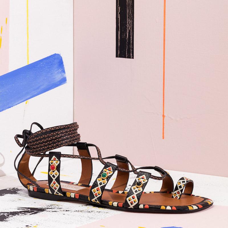 Valentino Primitive Print Sandals