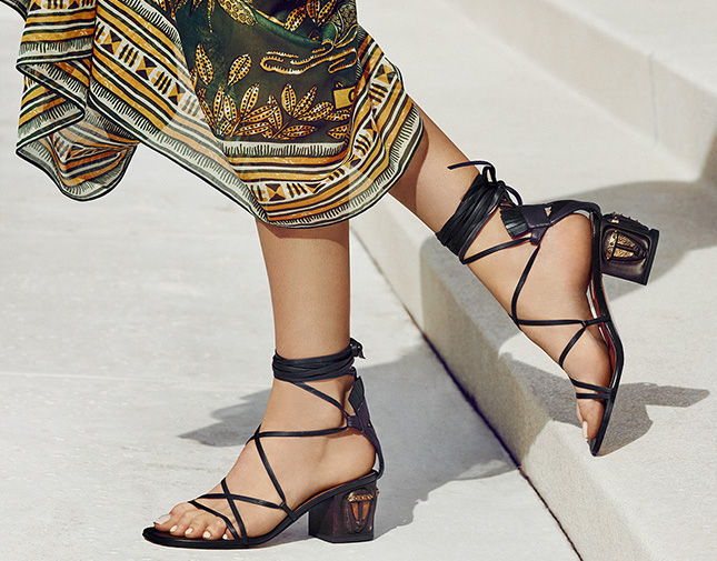 Valentino Tribe Gladiator Mask Lace-Up Sandals