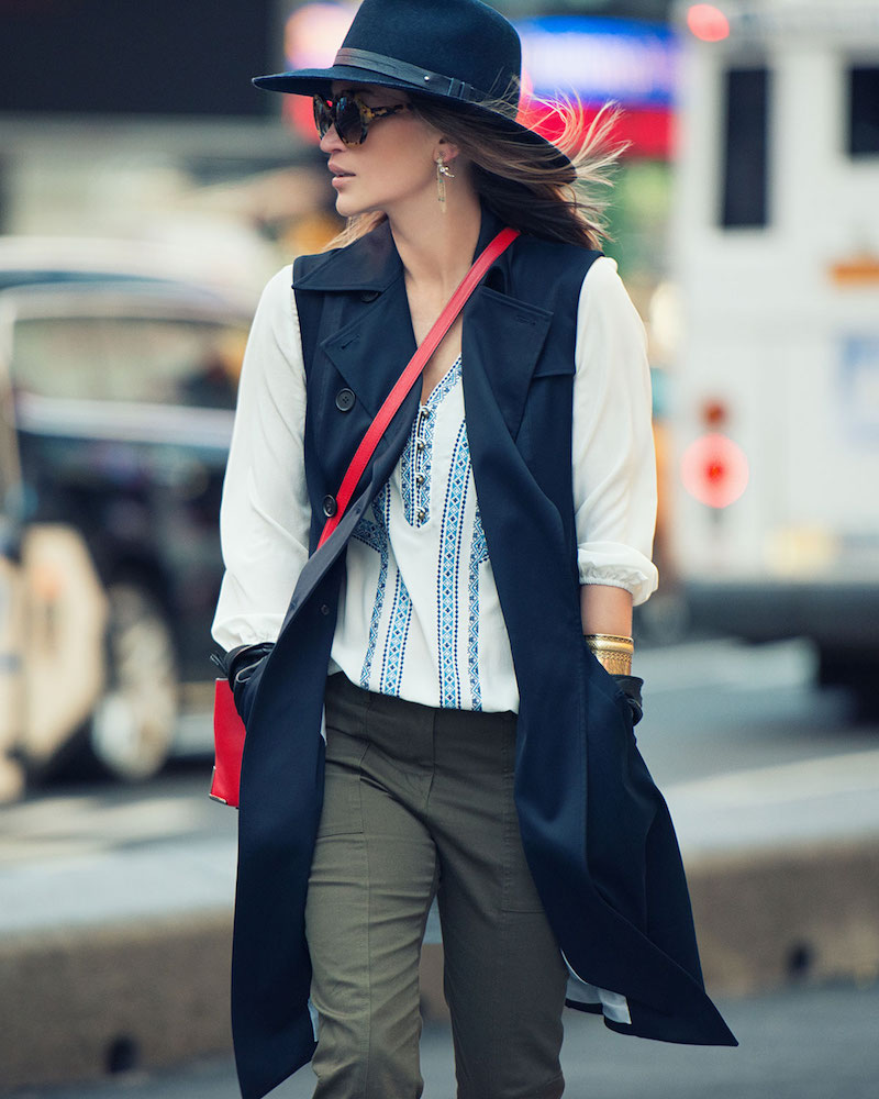 Veronica Beard SoCal Stretch Trench Vest