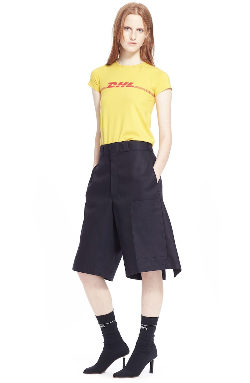 Vetements DHL Graphic Print Long Tee