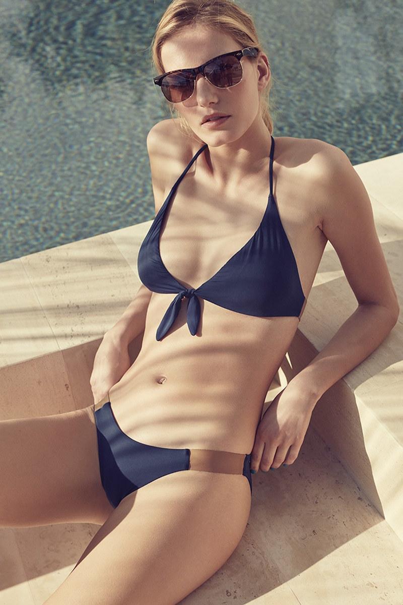 ViX Swimwear Leather Accent Halter Bikini Top
