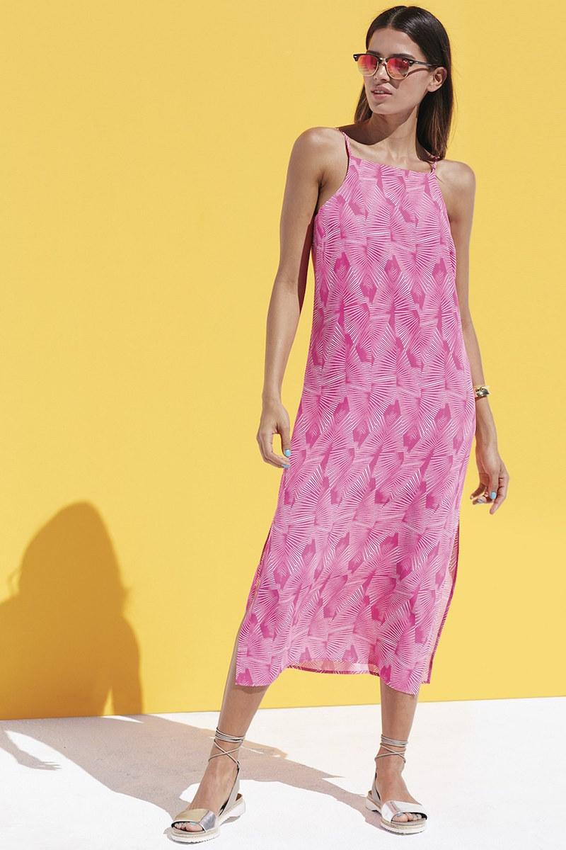 Vince Camuto Graphic Print Maxi Dress
