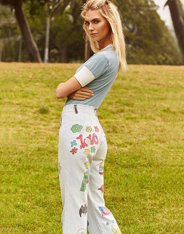 Vintage Hippie Don't Lie Flared Jeans