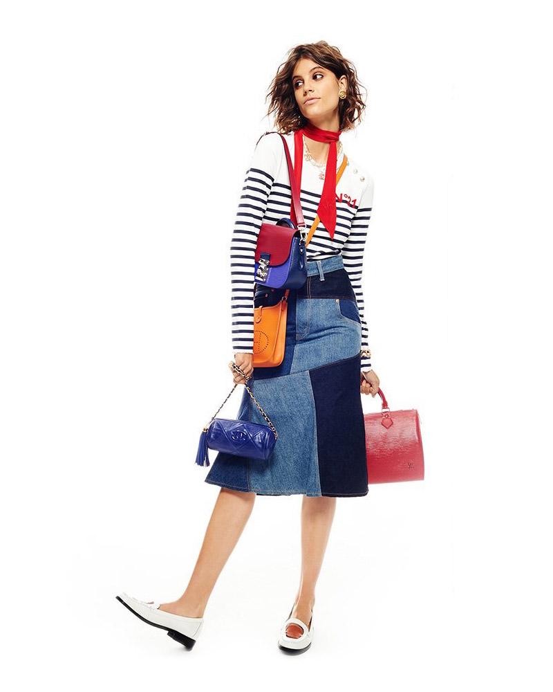 What Goes Around Comes Around Comme Des Garcons Denim Patchwork Skirt