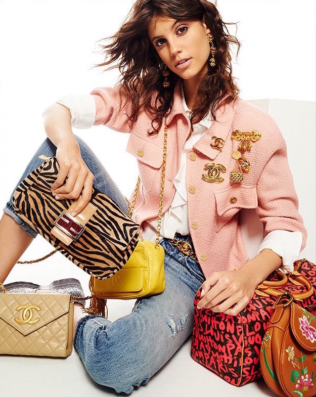 What Goes Around Comes Around Fendi Haircalf Baguette Bag