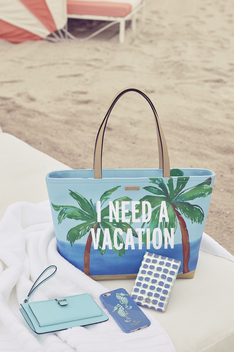 kate spade new york i need a vacation francis tote