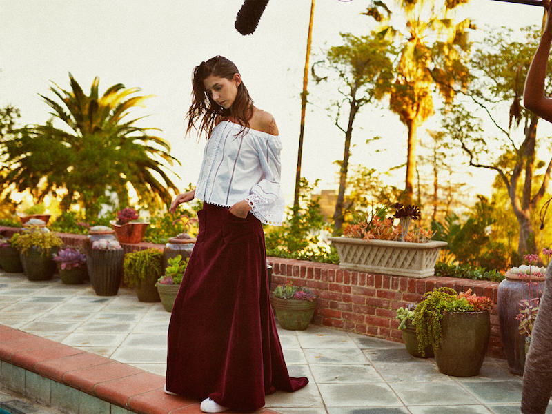 mytheresa.com x Carolina Herrera Velvet Skirt