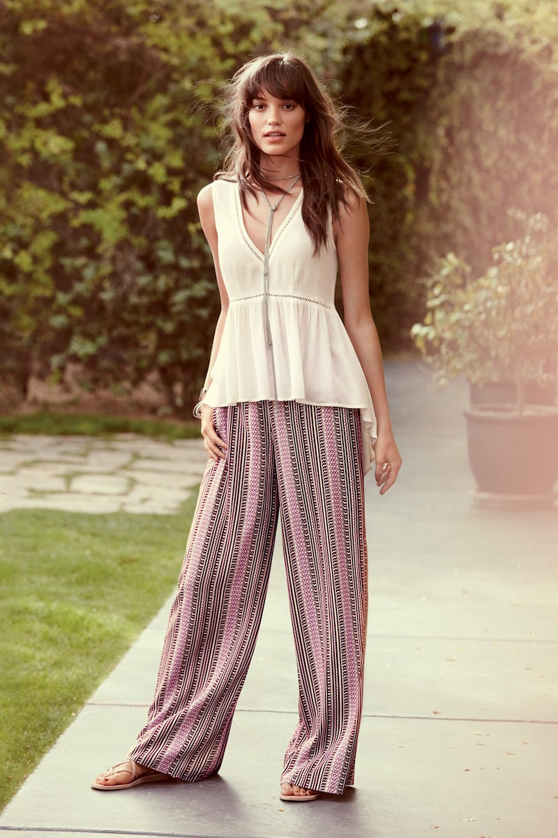 1.State High Low Crepe Top