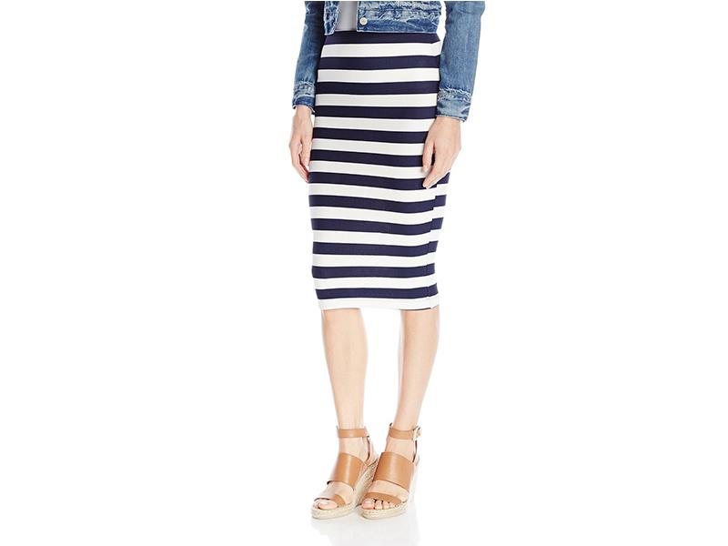 A. Byer Novelty Stripe Texture Knit Skirt