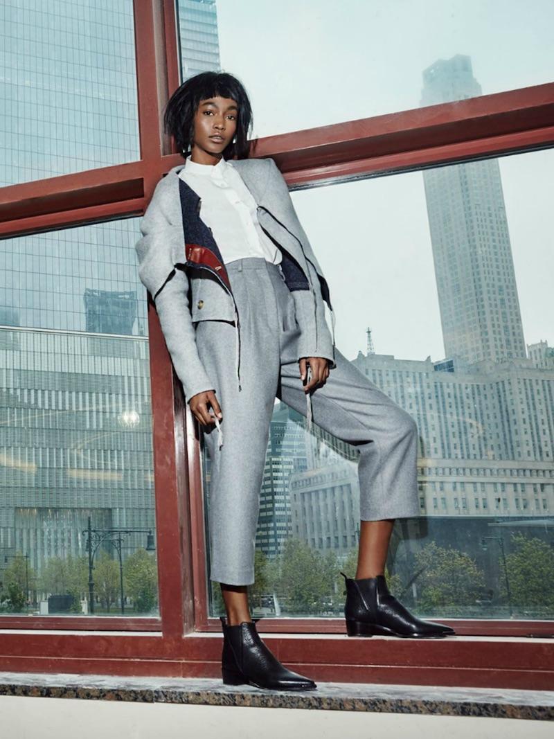 Acne Studios Asymmetrical Shawl-Collar Jacket