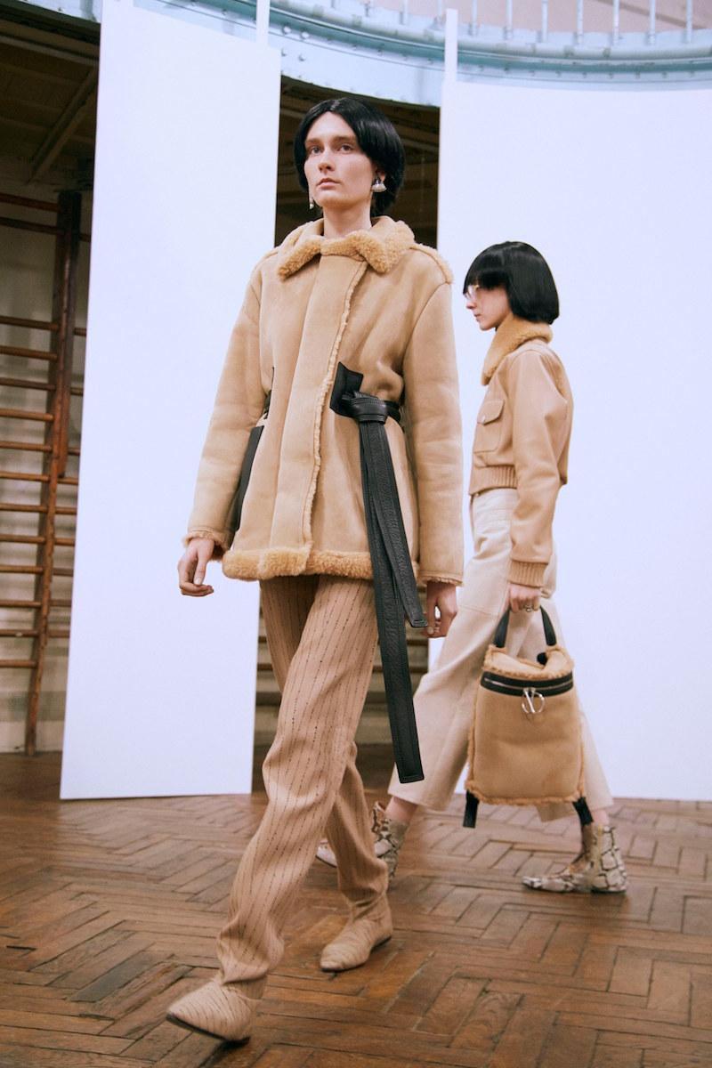 Acne Studios Fayette Oversize Genuine Shearling Coat