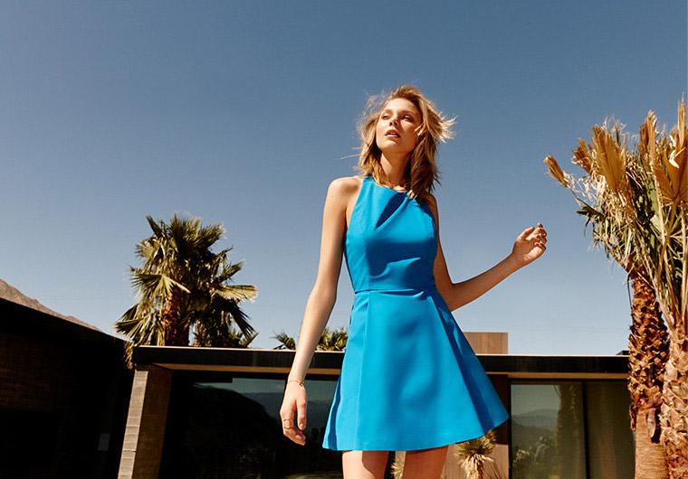Alice + Olivia Christie Cotton Fit & Flare Dress
