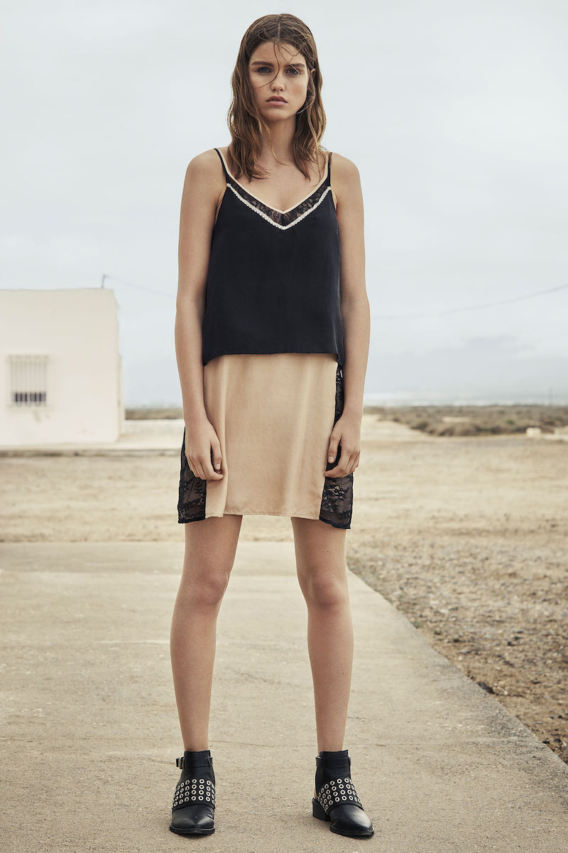 AllSaints Alena Slip Dress