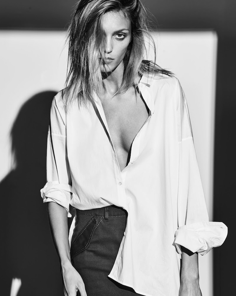 Anja Rubik x IRO Tamie Cotton and Silk-blend Shirt