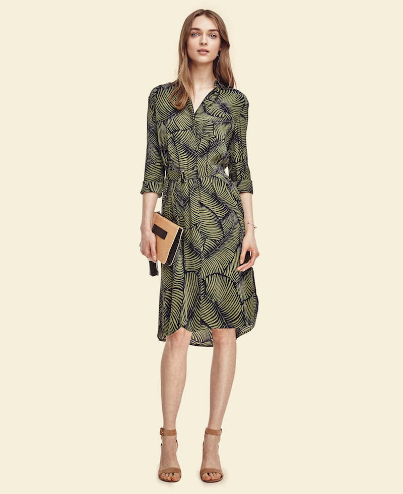 Ann Taylor Palm Shirtdress