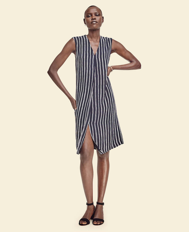 Ann Taylor Striped Sleeveless Dress