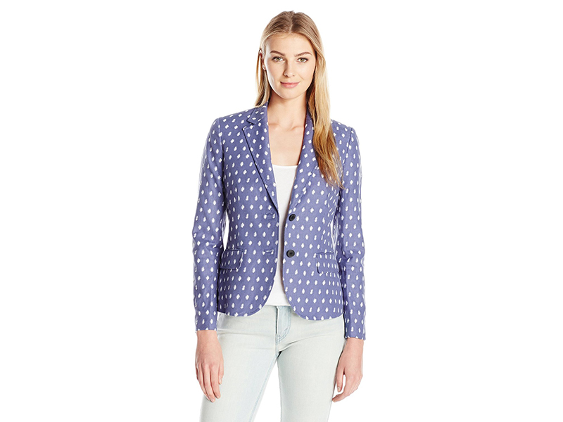 Anne Klein Clipped Jacquard Jacket
