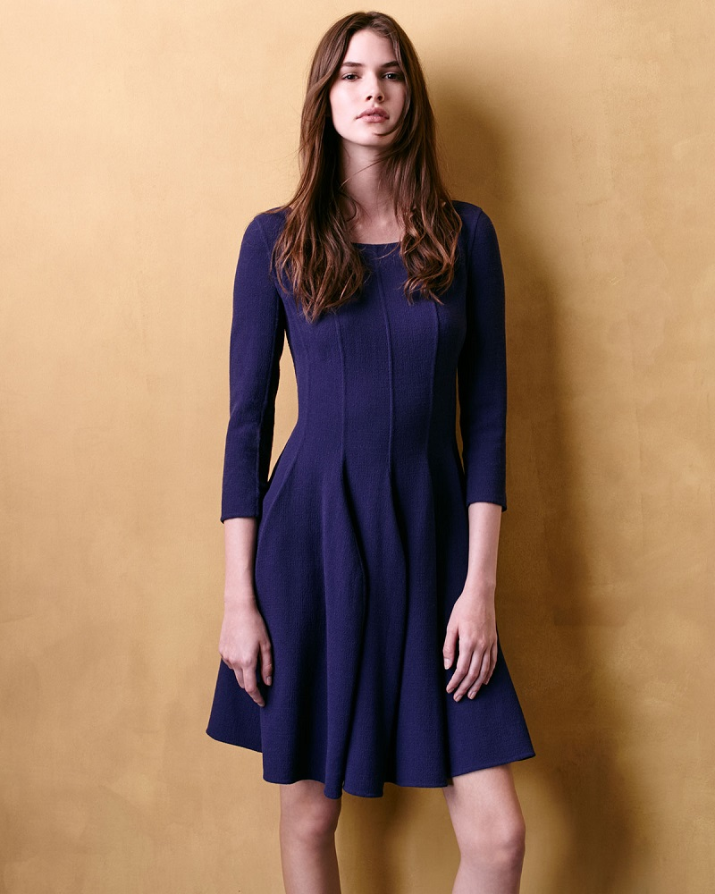 Armani Collezioni Godet-Pleated Dress
