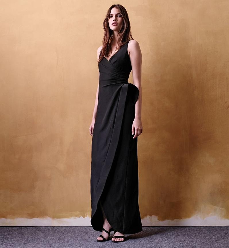 Armani Collezioni Sculpted-Waist Column Gown