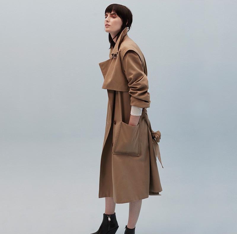 Balenciaga Water-repellent Cotton Trench Coat