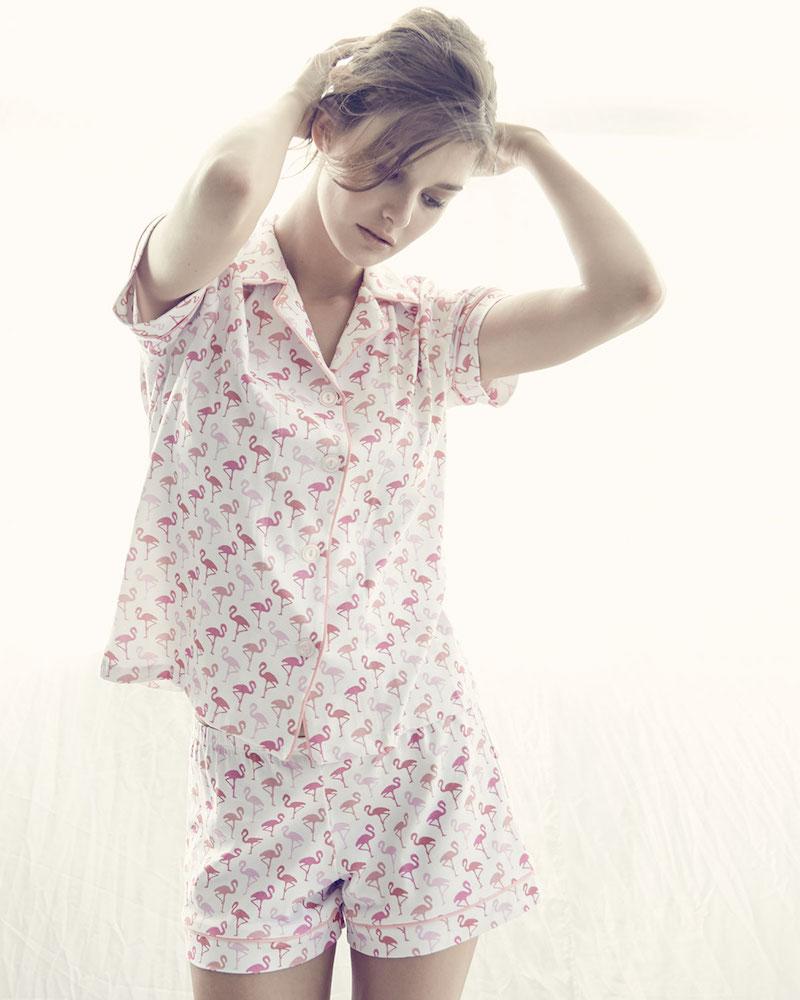 Bedhead Flamingos Knit Shorty Pajama Set