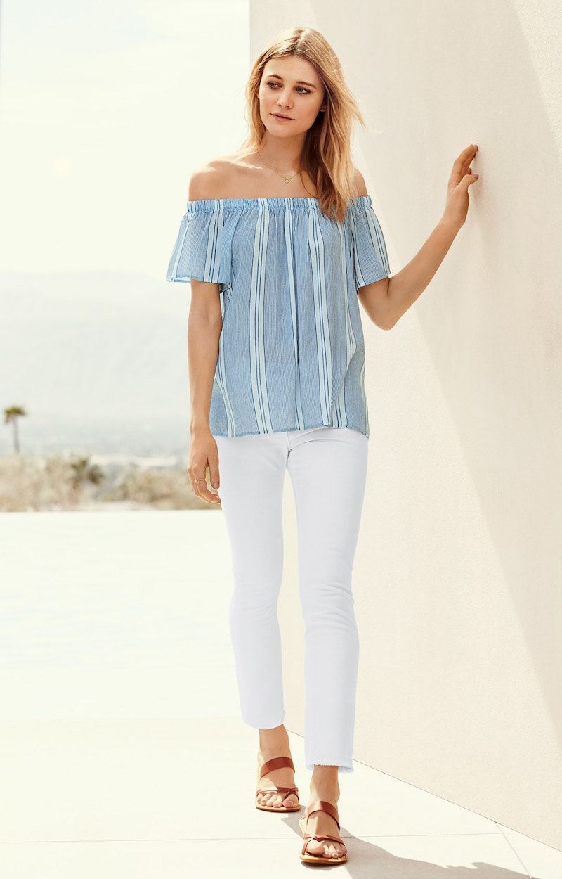 Bobeau Off the Shoulder Top