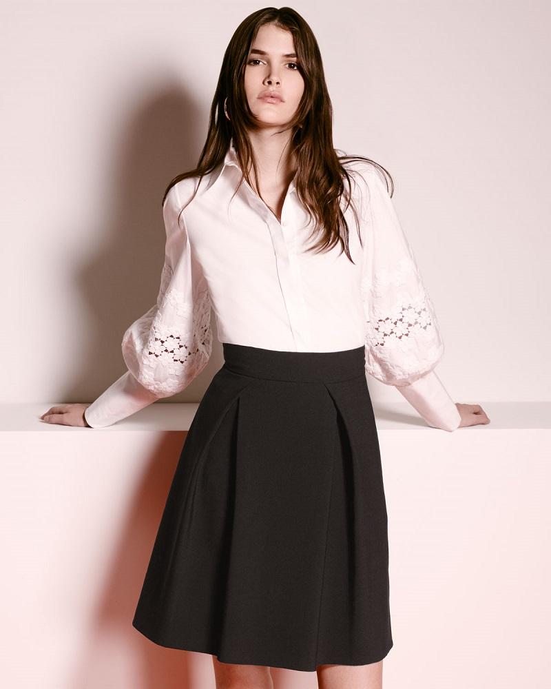 Carolina Herrera Pouf-Sleeve French-Cuff Blouse