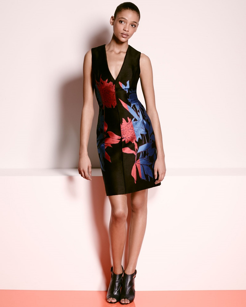 Carolina Herrera Sleeveless Floral-Print Sheath Dress