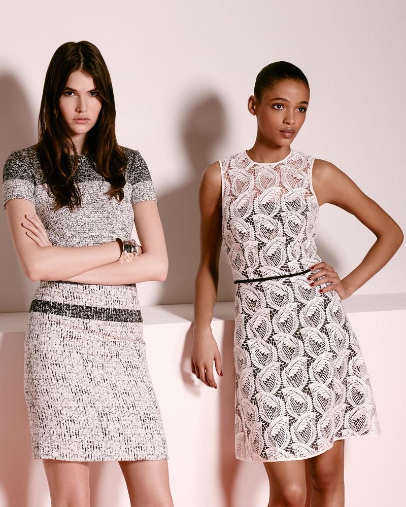 Carolina Herrera Sleeveless Sheer-Yoke Lace Sheath Dress