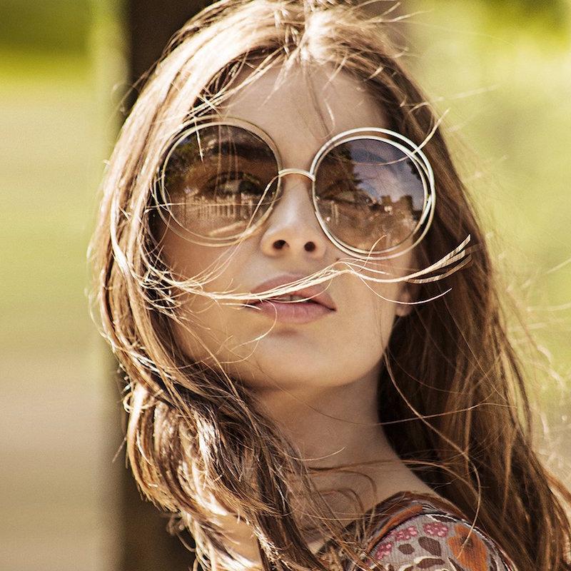 Chloé Carlina 58MM Round Sunglasses