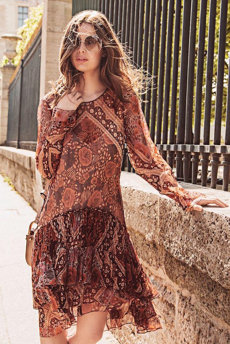 Chloé Silk Foulard Print Dress