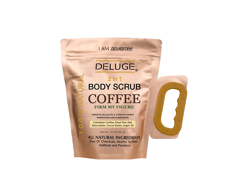 DELUGE Organic Coffee Body Scrub, Tightens, Tones, Reduces Cellulite