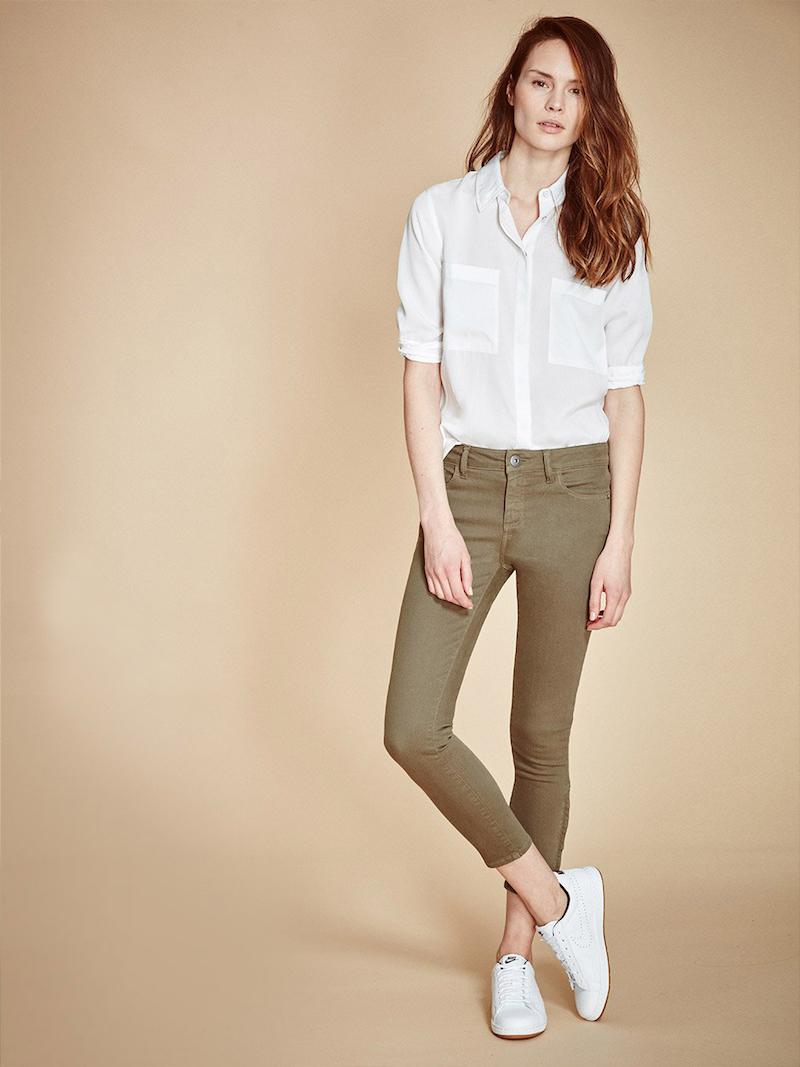 DL1961 Florence Instasculpt Cropped Jeans in Fennel